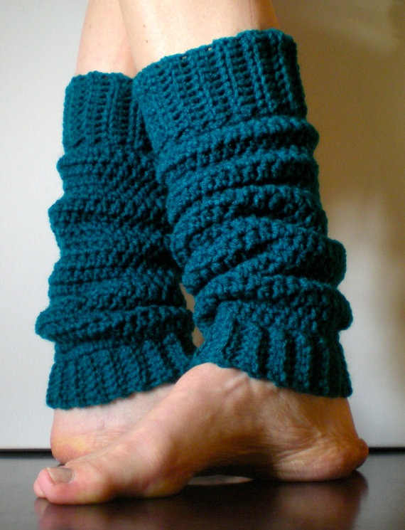 Crochet Yoga Leg Warmers on Luulla
